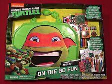 TMNT Teenage Mutant Ninja Turtles On the Go Fun Art Set Color Sticker Stamp NEW