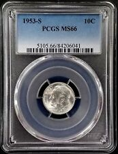 1953 S Roosevelt Silver Dime certified MS 66 by PCGS!