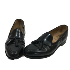 Alfred Sargent Mens Shoes 8.5 Black Leather Penny Loafer Made in England