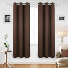"LivingBasics® Curtains Blackout Room Darkening Grommet Window Drapes 52"" x 84"""