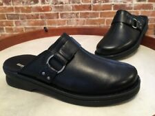 Clarks Black Leather Patty Lorene Slip On Mule Clogs New