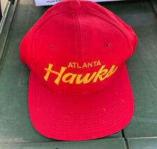 Vintage Atlanta Hawks NBA The Twill  Sports Specialties Script Snapback Hat Cap