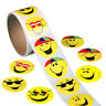 Yellow Smiley Face Happy Stickers Circle Teacher 100 Total Per Rol
