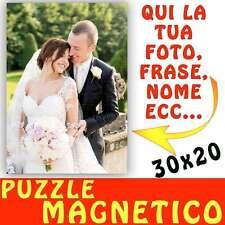 Puzzle Magnetico formato A4 20x30 personalizzato con foto Magnete - calamita mat