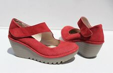 Current $180 FLY LONDON 'Yeon' Mary Jane Wedge, Size 37 / 6.5-7