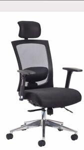 Brand New Gemini High Back Executive Mesh Office Chair Headrest Adjustable Arms