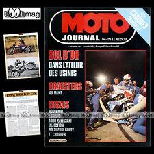 MOTO JOURNAL N°473 ANDRE MALHERBE BMW R80 GS SUZUKI RG GT 80 L KAWASAKI Z1000