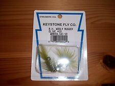 Keystone Fly Co B.H. Wooly Bugger Olive # 10 Streamer Flies - 2 Per Pack