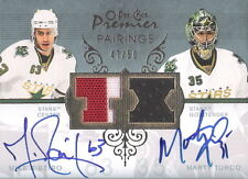 Mike Ribeiro Marty Turco 2007-08 OPC Pairings Auto graph Game Used Jersey #/50