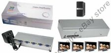 4way/Port SVGA/VGA Amplifier/Amp Duplicator/Multiplexer/Splitter PC/TV/Projector
