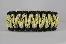 550 Paracord Survival Bracelet King Cobra Black/Yellow/Yellow Camo Camping