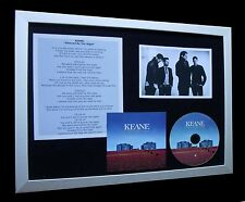 KEANE Silenced By The Night LIMITED CD MUSIC FRAMED DISPLAY+EXPRESS GLOBAL SHIP!