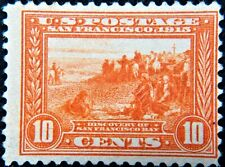 Scott #400A - 10¢ Panama-Pacific Exposition Issue, orange, M, OG, NH.