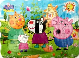1x Peppa Pig Family New Style Drawing 40 Pcs Jigsaw Puzzles Best Gifts for Kids