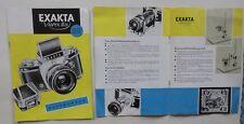 ORIGINAL  EXAKTA VAREX  IHAGEE DRESDEN 1961 Prospekt Kamera  DDR