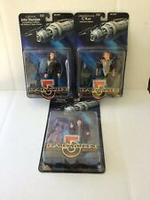 Babylon 5 Earth Alliance Space Station Action Figures. Lot Of 3 NIP