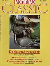 Motorrad Classic 1992 4/92 Motobi Ardizio Adler Diamant 350 500 NSU Max Victoria