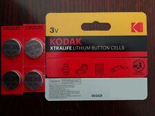 4 x KODAK CR2025 3V Lithium Coin Cell Battery DL BR 2025 Key Fobs Alarms   B1214