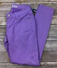 Old Navy NWT Womens Rockstar Printed Skinny Denim Jeans 4 Purple Baby Blue Q3