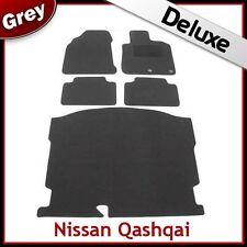 NISSAN QASHQAI Mk1 5-Seater 2007-2014 Tailored LUX 1300g Car & Boot Mats GREY