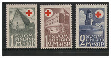 SUOMI FINLAND 1931 RED CROSS FUND SET OF 3  MINT NEVER HINGED MNH