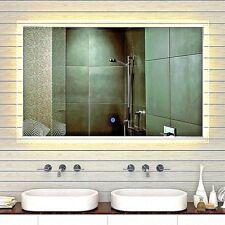 LED Wand Badspiegel in Kalt/Warmweiß mit Touch Schalter 165x105cm  XXL MF91165