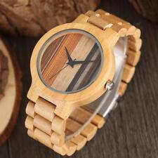 Unique Bamboo Wirstwatch Bracelet Quartz Wooden Watch 100% Natural Wood Watches