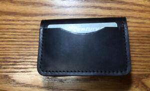 Shell Cordovan Mini Wallet—Black Color