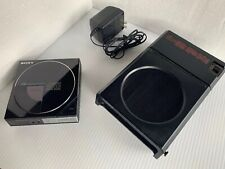 VINTAGE SONY D-5 PORTABLE COMPACT DISC CD PLAYER DOCK STATION EBP-9LC WORKING
