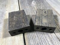 ANTIQUE VINTAGE BIKE BICYCLE TRICYCLE PEDAL BLOCKS RUBBER BLOCK 2-5/8 x 1-3/4