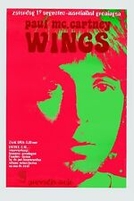Paul McCartney & Wings Holland Dutch Concert Poster 1972  13x19
