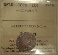 Canada Newfoundland 1896 Silver 10 Cents - ICCS F-15