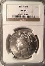 1923 Peace Dollar === NGC  MS-66   ===   SUPERB WHITE GEM  !