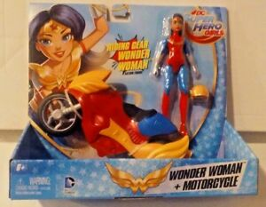 DC Super Hero Girls Riding Gear Wonder Woman and Motorcycle New MISB
