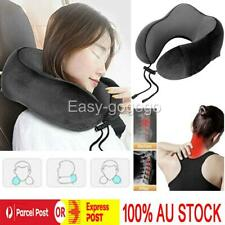 Memory Foam Rebound Pillow Cushion Travel Study Neck Support Office Car Plane O