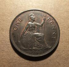 Uk -Great Britain 1948 Penny - George Vi W/Ind:Imp. - Better Grade Km#845 Tmk