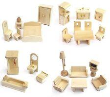 Möbelset für Puppenhaus FREDA aus Holz 28 Teile