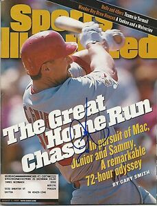 **GFA Sports Illustrated *MARK MCGWIRE* Signed SI Magazine AD2 COA**