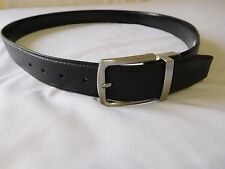 Cole Haan Mens Belt 42 BLACK  Rev Feather Edge Pebble to Smooth -- Leather New