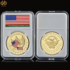 Betsy Ross Flag USA Gold Commemorative History of Old Glory Coin W/ Capsule