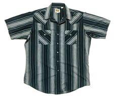Ely Cattleman Mens L Short Sleeve Pearl Snap Western Rockabilly Shirt Multicolor