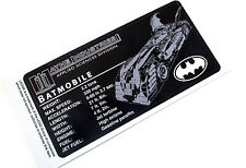 CUSTOM UCS STYLE DISPLAY PLAQUE STICKER for Lego 7784 BATMOBILE - BOOM!