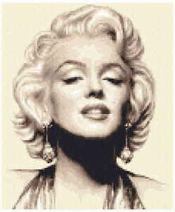 MARILYN MONROE- complete counted cross stitch kit *Jann Designs