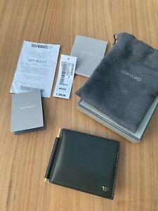 Tom Ford Leather Logo Money Clip Wallet BNIB RRP £380