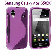 TPU gel silicone case cover S-line purple violet for Samsung Galaxy Ace S5830