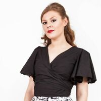 Lady K Loves Teresa Blouse Organic Cotton 30s 40s 50s style pinup rockabilly SzM
