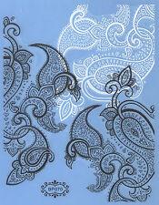 Lace Black & White 3D Nail Art Decoration Sticker Tip DIY Flowers
