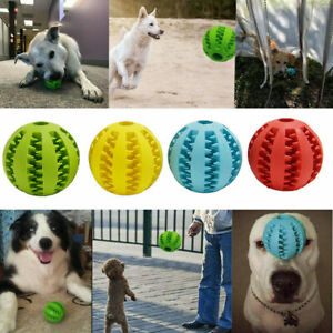 Pet Food Dispenser Ball Tough-Treat Dog Puzzle Toy Interactive Puppy Play Toys