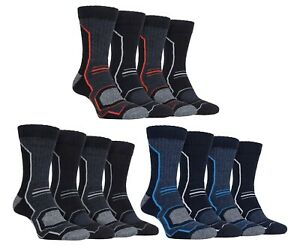 Storm Bloc 4 Pack Mens Anti Blister Padded Walking Boot Socks with Arch Support