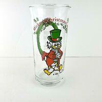 Scrooge McDuck Ebenezer Scrooge Mickey's Christmas 1982 Disney Coca Cola Glass